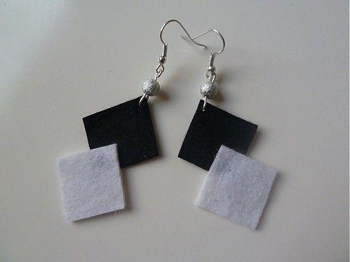 Martinuska / čierno biele náušnice