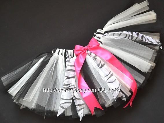 Black White Zebra Party Costume Ballet Girl Toddler Child Baby Tutu Skirt 0 5T   eBay