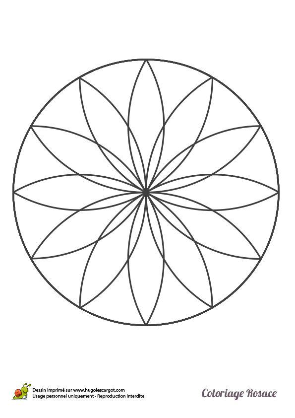 dessin dune rosace double imprimer et colorier