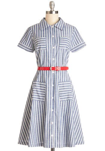 1940s Style Dresses and Clothing - Brand New Bookstore Dress from ModCloth $124.99 #1940sfashion #1940sdress