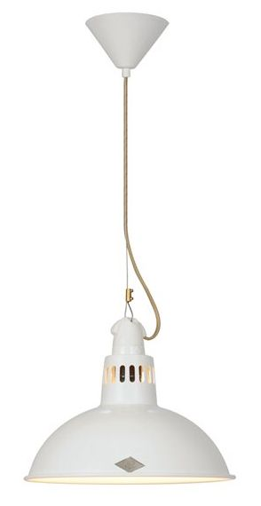 The Knox Pendant Light White - £223.00 - Hicks and Hicks