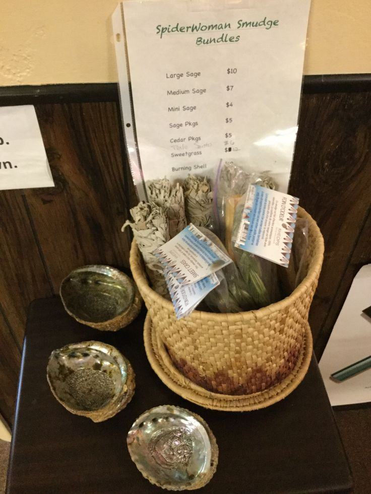 We have locally harvested sage, sweat grass, palo santo
