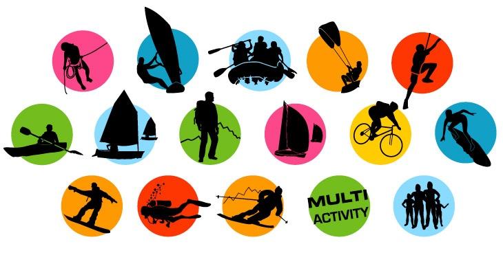Activity icons for goactive magazine