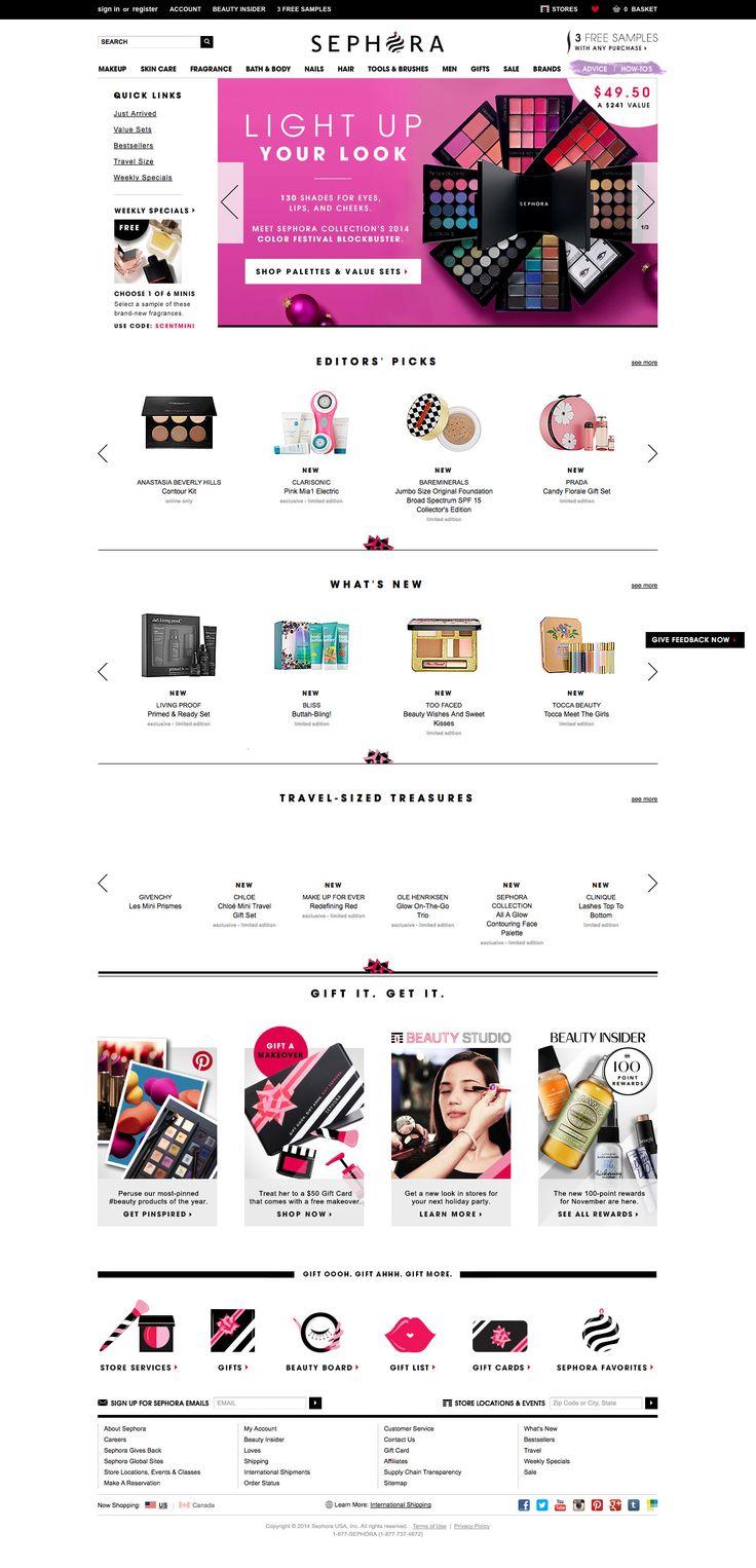 Sephora Desktop Home Page - http://www.cartrepublic.com/gallery/2014/12/sephora-desktop-home-page/