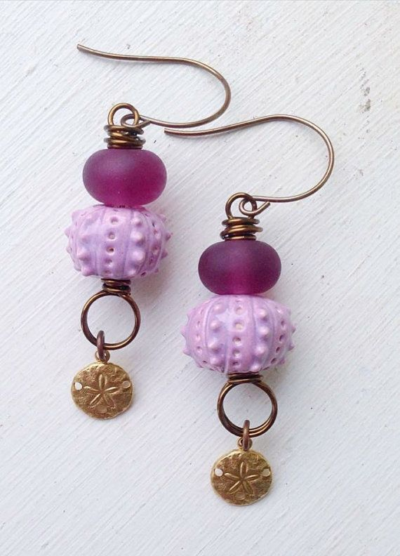 Ceramic earrings and sewing accessories