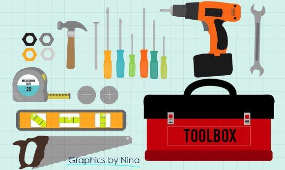 Tools Toolbox Clipart Tool Box Clip Art Scrapbook Designs