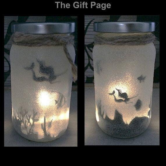 Night light mood lighting Mermaid in a jar Fairy by TheGiftPage