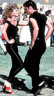 Danny & Sandy - If this all-time favorite Halloween costume idea is ever going to happen, my metabolism needs a serious kick in the pants.  And the arms.  And the midsection.