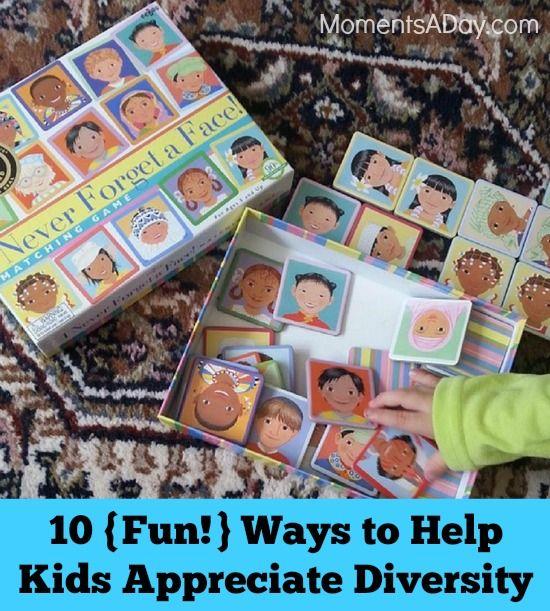 10 {Fun!} Ways To Help Kids Appreciate Diversity