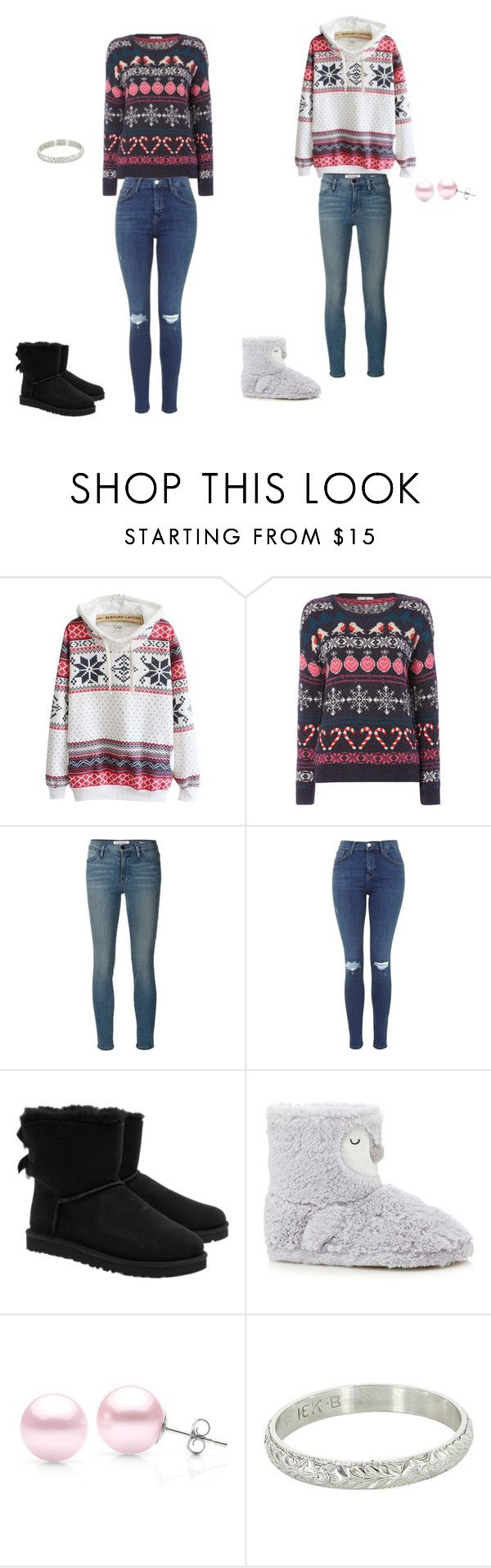 """cute winter outfit"" by icross-1 on Polyvore featuring Frame Denim, UGG Australia and Suzy Levian"