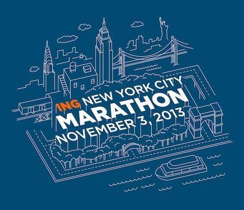 The 2013 New York City Marathon shirt design.  I am IN LOVE.