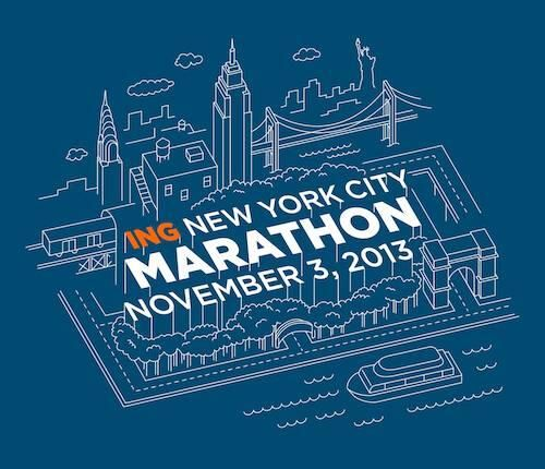 The 2013 New York City Marathon shirt design.  I am IN LOVE.