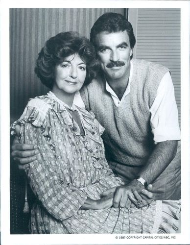 1987 Handsome Actor Tom Selleck With his Mother Wire Photo | eBay