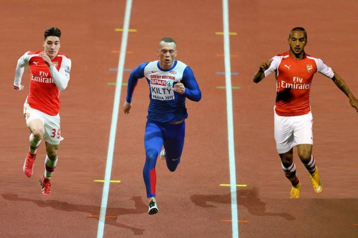 Arsenal's Hector Bellerin and Theo Walcott challenged to £30,000 race by World and European indoor champion Richard Kilty