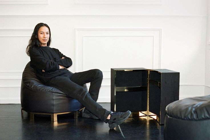 FASHIONABLE FURNISHINGS | Wang in his downtown New York studio, with the leather beanbag chair...
