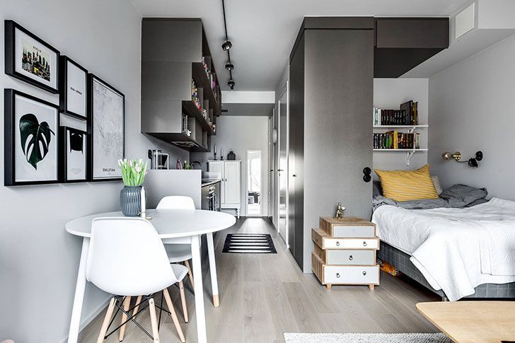 Compact Life On 30 Sqm Interior Design Home Decor Idea Inspiration Cozy Small Apartment Interior Apartment Interior Design Condo Interior Design Small