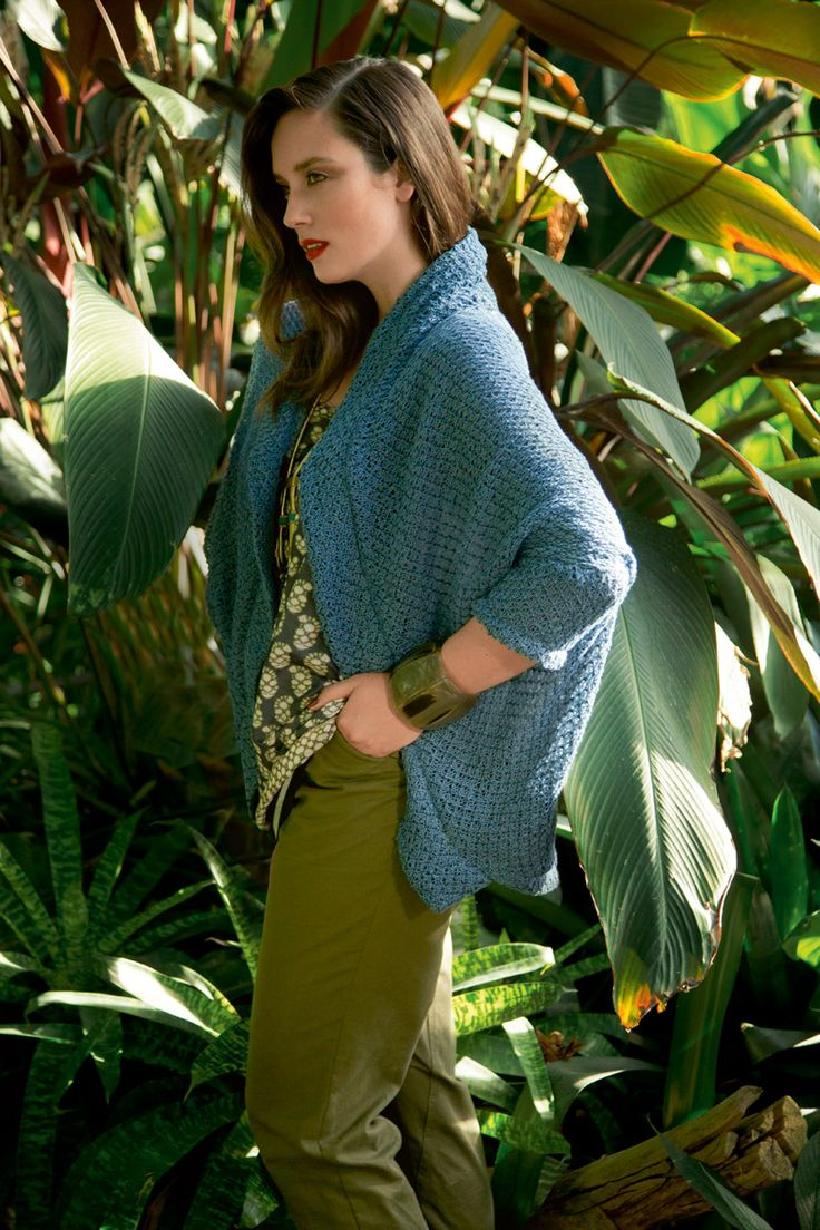 Кардиган - выкройка № 418 из журнала 1/2015 Burda. Мода для полных.