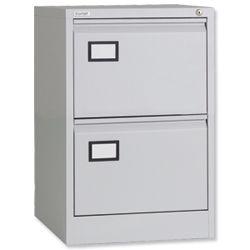 Product 100385, Description: Triumph Trilogy Filing Cabinet 2 Drawer Lockable W470xD622xH711mm Foolscap Grey Ref TR2D