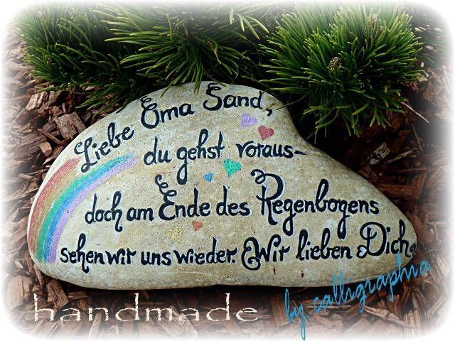 MUSTER Sternenkind Grabstein stehend Trauerhilfe von calligraphia - Schreibkunst von Romy Gremmer  auf DaWanda.com