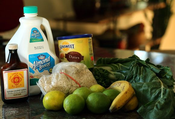 Ingredients for Green Lime-Oat Smoothie