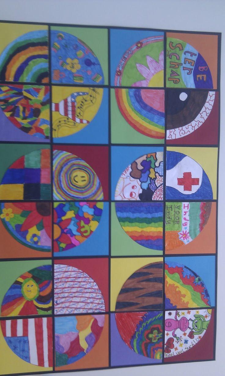 Klinkers in Beeld: Gezamenlijk kunstwerk cirkels