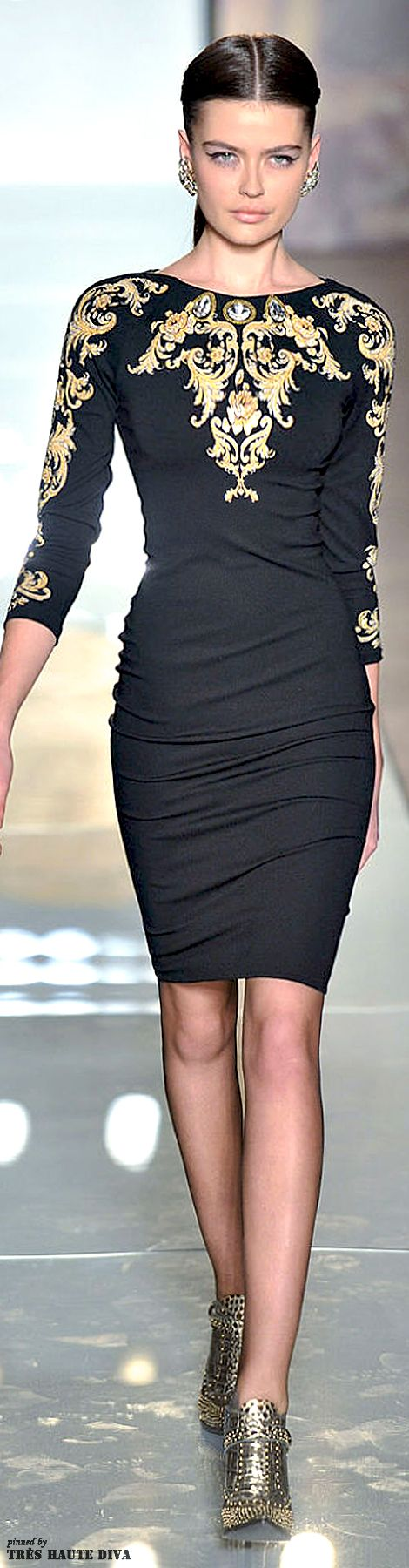 ~Roccobarocco    The fashion House of Beccaria   Lauxury fashion that captures her style and expresses her elegant sexy attitude   the little black cocktail dress   pretty sexy woman in black   #thejewelryhut