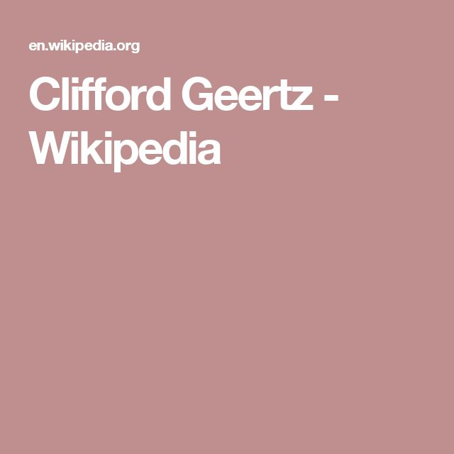 Clifford Geertz - Wikipedia