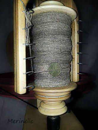 Handspun 100% camel singles yarn. #handspun