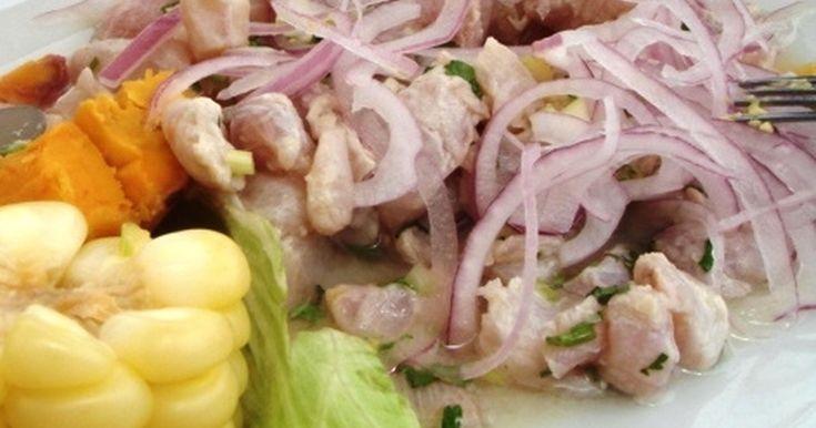 セビーチェ、セビッチェ、Ceviche  (南米にスペイン人が渡って初めて、セビチェに玉ねぎとライムが加わりました。)