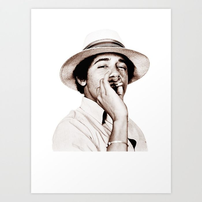 Buy Barack Obama Smoking weed Art Print by amy90. Worldwide shipping available at Society6.com. Just one of millions of high quality products available.