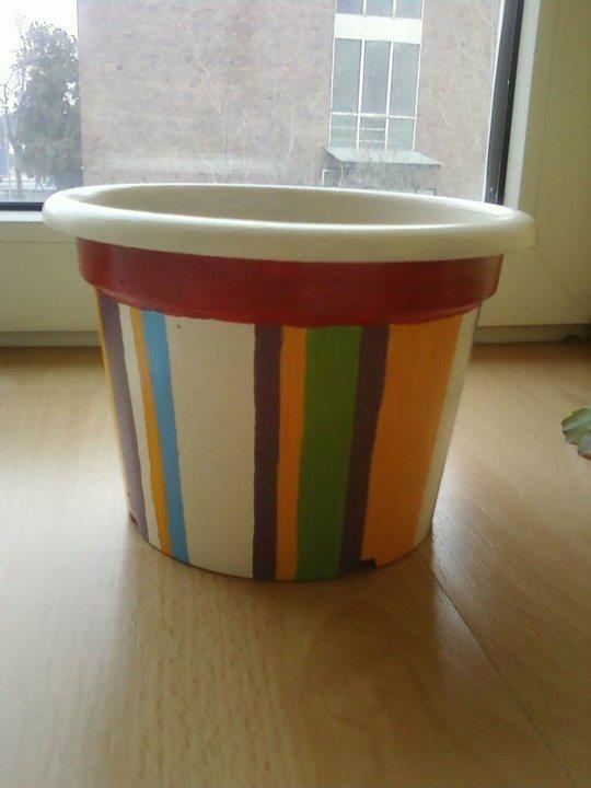 Striped pot