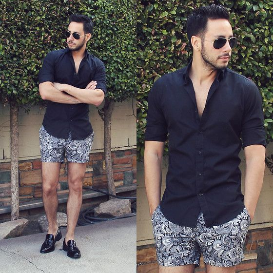 Hugh & Crye Shirt, Topman Shorts, Zara Shoes, Ray Ban Sunglasses.
