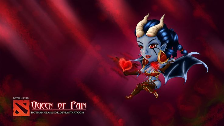 chibi dota 2 queen of pain wallpaper