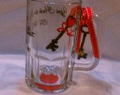 Unigue hand painted glasses and MORE by MyPaintedTreasures on Etsy