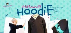 Selbermacher - Hoodie kostenloses Schnittmuster + Anleitung