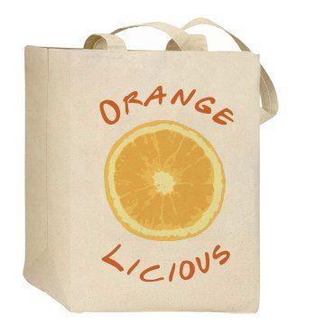 Orangelicious (Eco Friendly Bag) SarahBe Designs. #customizedgirl #orange #citrus #fruit #bags