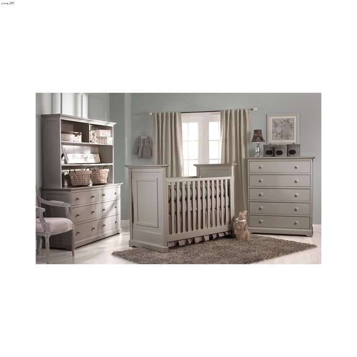 Munire Chesapeake Light Grey Classic Crib Collection
