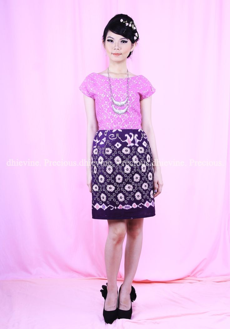 Batik Dress   Lace Dress   Dress Kebaya  Serendibite Magenta Dress   DhieVine   Redefine You