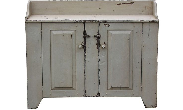 Primitive farmhouse kitchen cupboard furniture country painted reprod…