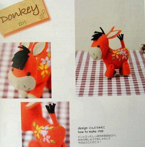 Taken from 'Out of print handmade felt and felt wool animals, Japanese craft book' @ MeMeCraftwork  @ etsy