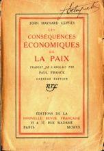 John Maynard Keynes, Les conséquences économiques de la paix (1919)
