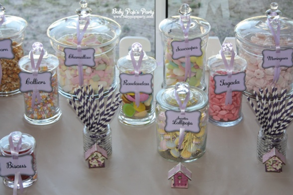 Candy bar bar bonbons mariage bapt me anniversaire mari baby pops party baby shower f te - Idee baby shower ...