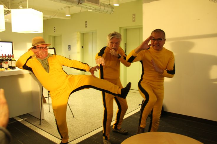 A trio of Thierry Rautereau, Tom Skerrit, and Gary Locke strutted their stuff with this awesome action pose