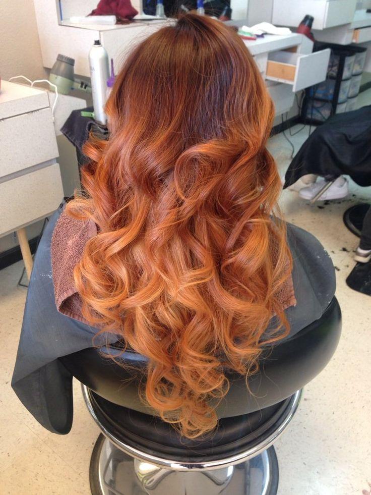 Dark Copper Brown Carmel And Light Copper Blonde Ombr 233