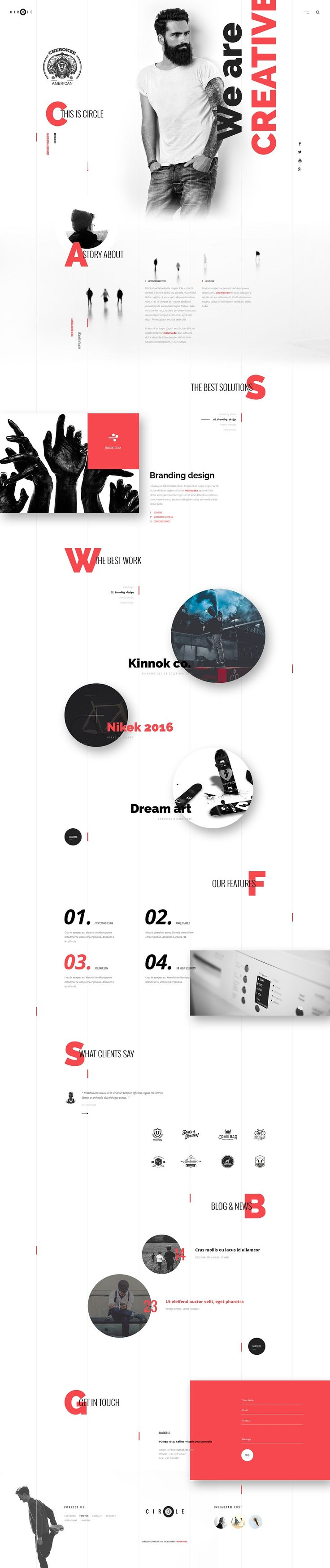 The Most Creative Web Themes #DESIGN