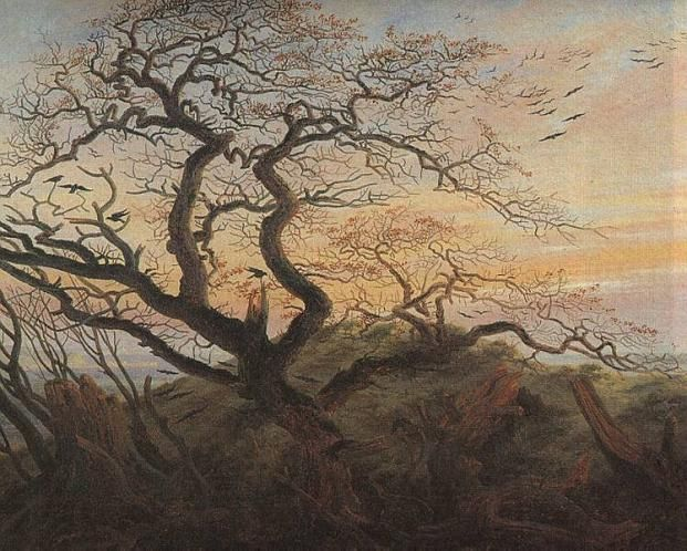 The Tree of Crows (also known as Raven Tree) is an oil painting of 1822 by the German Romantic artist Caspar David Friedrich. Description from quazoo.com. I searched for this on bing.com/images