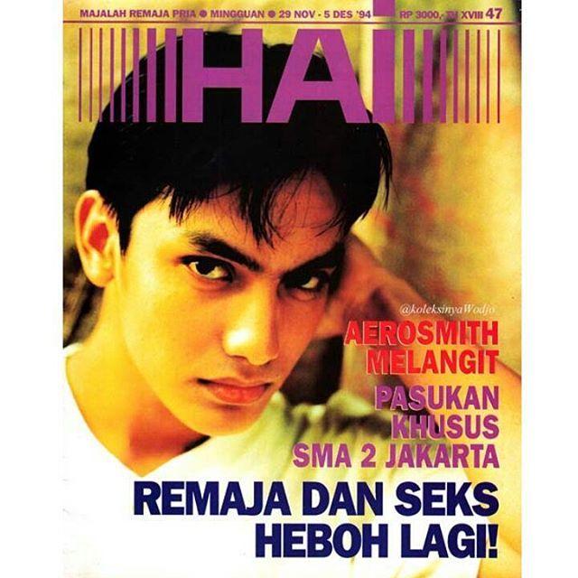 #Gunawan for #HaiMagazine no.47/November 1994. Styled by #AntonDiaz photo by #FirdausFadlil  #sampul #magazinecover #model #actor #90an #generasi90an #jadul #vintage #nostalgia