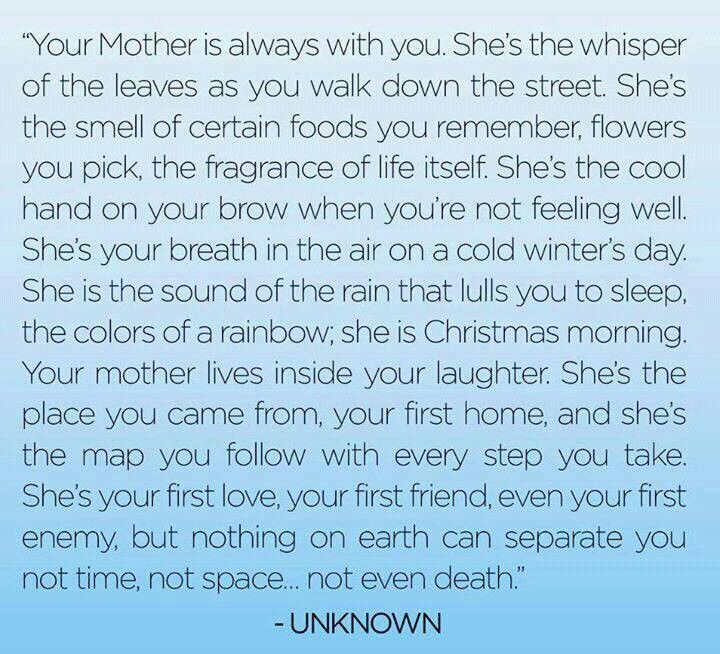 Miss you Mom! Love you Mom!