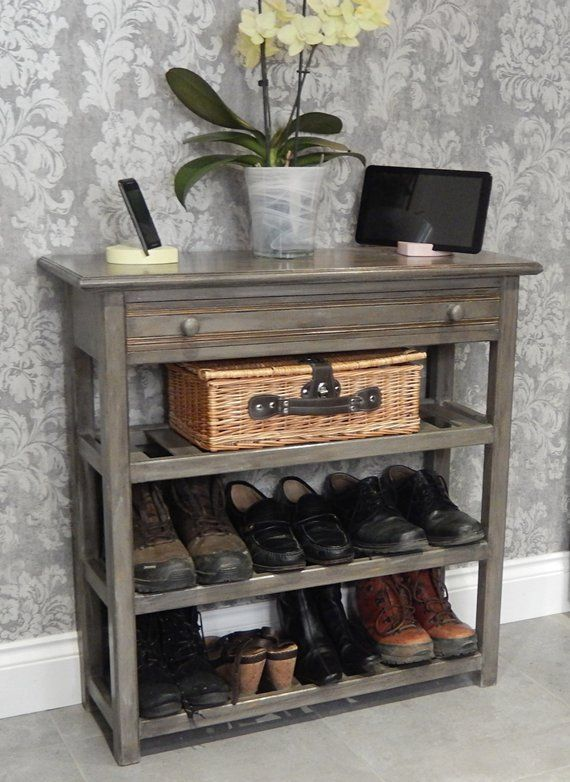 Narrow Console Table With Drawer And 3