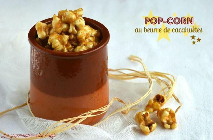 Pop-corn au beurre de cacahuètes ♥